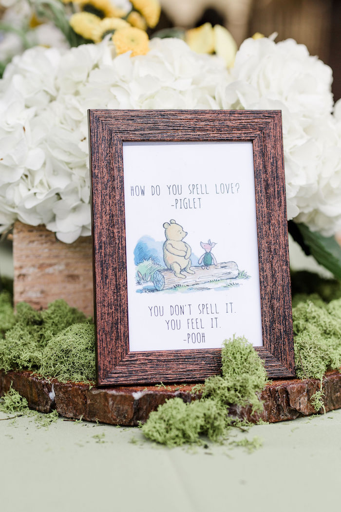 Winnie the Pooh Signage + Print from a Rustic Chic Classic Winnie the Pooh Party on Kara's Party Ideas | KarasPartyIdeas.com (33)