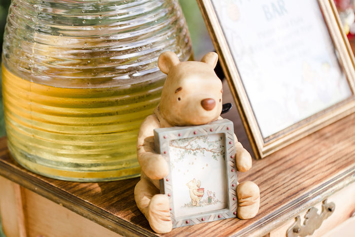 Winnie the Pooh Frame + Signage from a Rustic Chic Classic Winnie the Pooh Party on Kara's Party Ideas | KarasPartyIdeas.com (14)