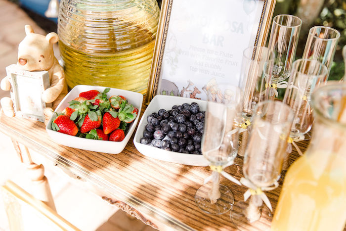 Mom-osa Bar from a Rustic Chic Classic Winnie the Pooh Party on Kara's Party Ideas | KarasPartyIdeas.com (8)