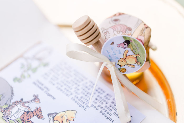 Honey Jar Favors from a Rustic Chic Classic Winnie the Pooh Party on Kara's Party Ideas | KarasPartyIdeas.com (30)
