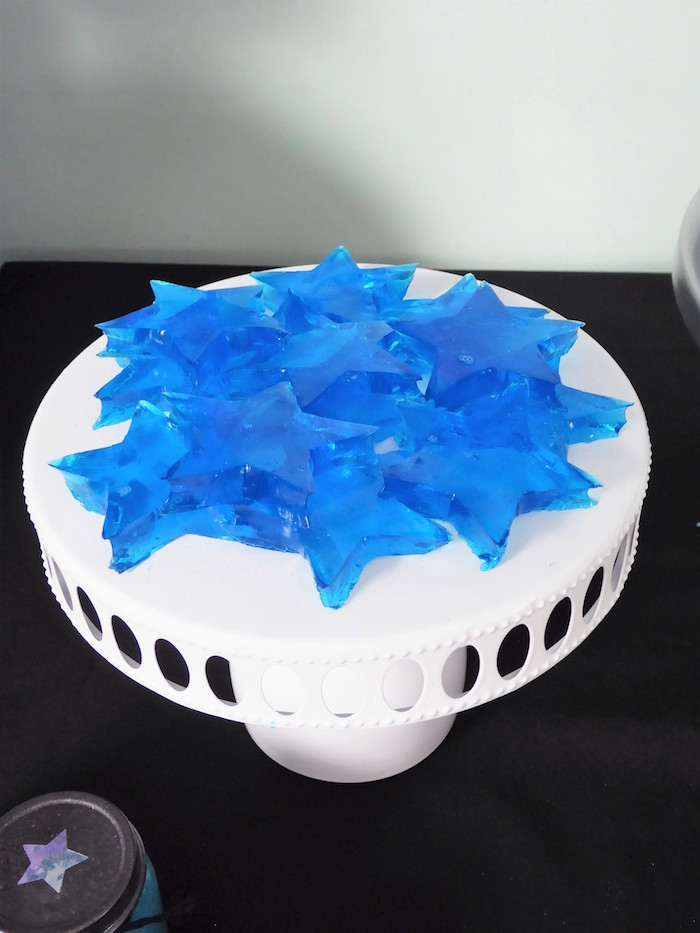 Star Jello from a Twinkling Star Galaxy Party on Kara's Party Ideas | KarasPartyIdeas.com