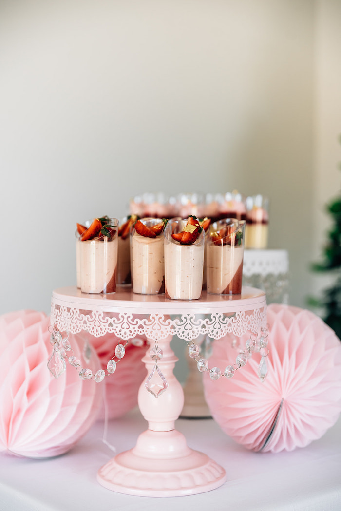 Strawberry Dessert Shooters from a Stylish Swan Birthday Party on Kara's Party Ideas | KarasPartyIdeas.com (24)