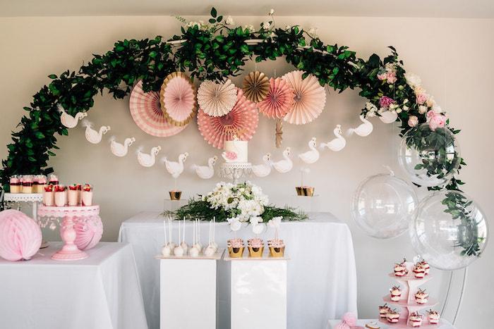 Stylish Swan Birthday Party on Kara's Party Ideas | KarasPartyIdeas.com (22)