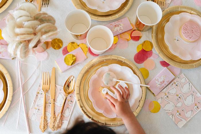 Swan Party Table from a Stylish Swan Birthday Party on Kara's Party Ideas | KarasPartyIdeas.com (21)