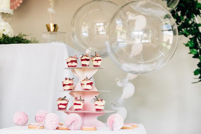 Sweet Table from a Stylish Swan Birthday Party on Kara's Party Ideas | KarasPartyIdeas.com (16)
