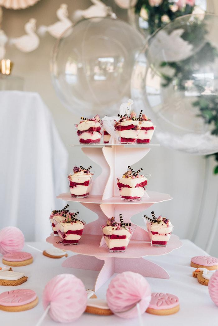 Swan Sweet Table from a Stylish Swan Birthday Party on Kara's Party Ideas | KarasPartyIdeas.com (12)