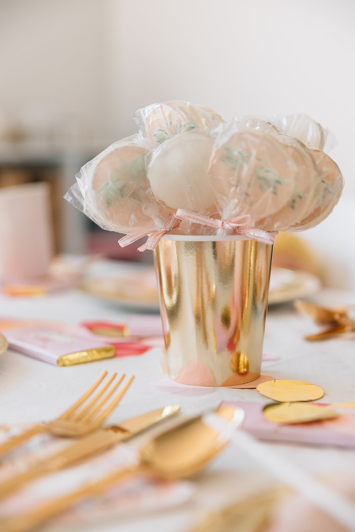 Swan Lollipops from a Stylish Swan Birthday Party on Kara's Party Ideas | KarasPartyIdeas.com (8)