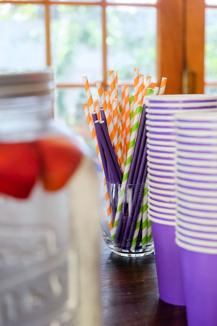 Paper Straws from a Super Science Party for Twins on Kara's Party Ideas | KarasPartyIdeas.com (10)