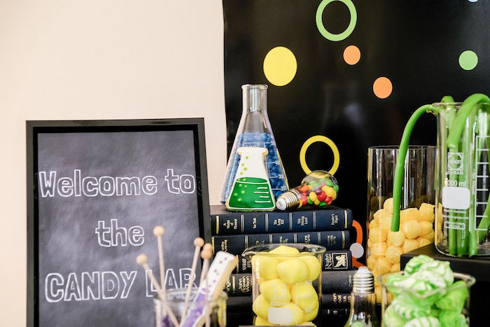 Science Themed Sweets + Dessert Table from a Super Science Party for Twins on Kara's Party Ideas | KarasPartyIdeas.com (20)
