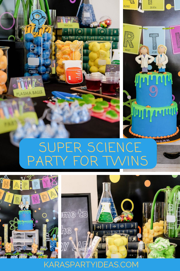 Super Sciience Party for Twins via Kara's Party Ideas - KarasPartyIdeas.com