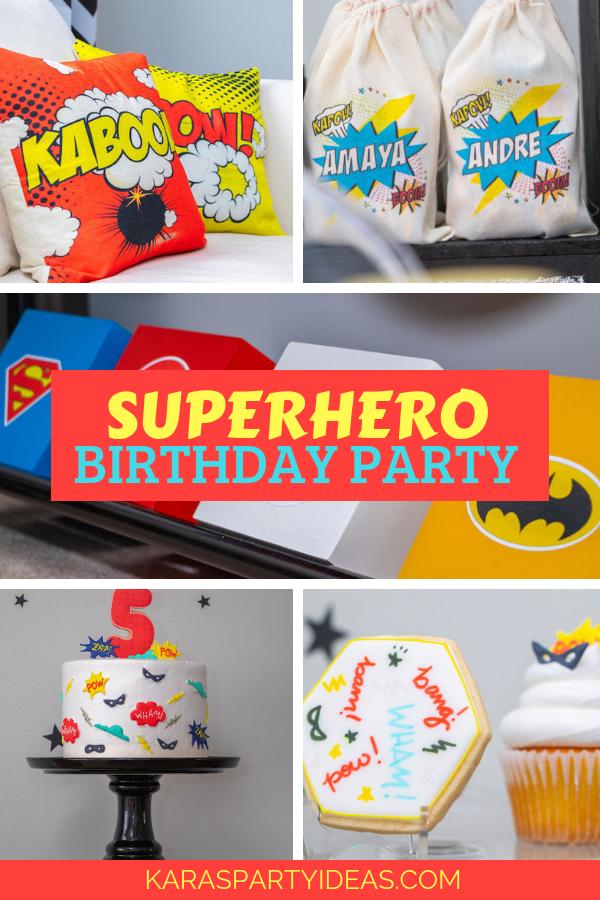 Superhero Birthday Party via Kara's Party Ideas - KarasPartyIdeas.com