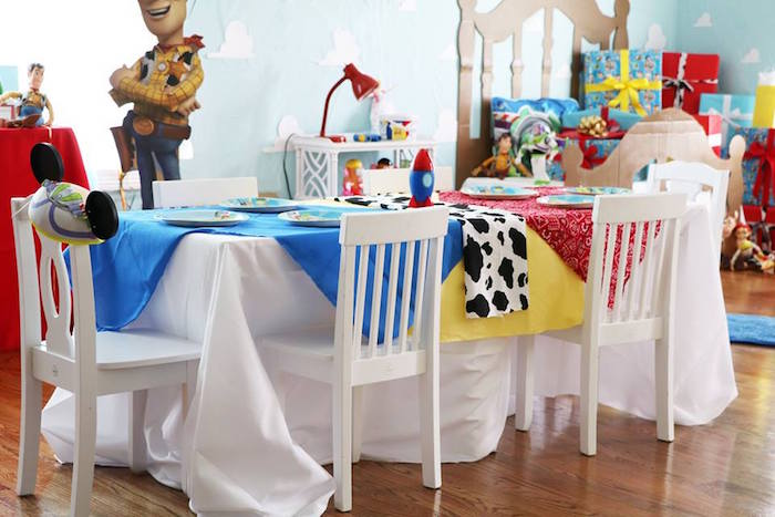 Toy Story-inspired Party Table from a Toy Story Birthday Party on Kara's Party Ideas | KarasPartyIdeas.com (24)