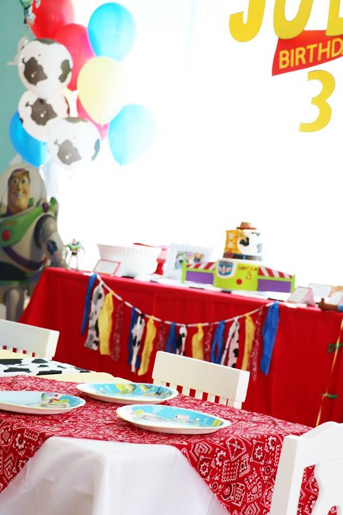 Toy Story Party Tables from a Toy Story Birthday Party on Kara's Party Ideas | KarasPartyIdeas.com (19)