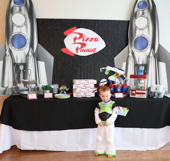 Pizza Planet Food Table from a Toy Story Birthday Party on Kara's Party Ideas | KarasPartyIdeas.com (17)