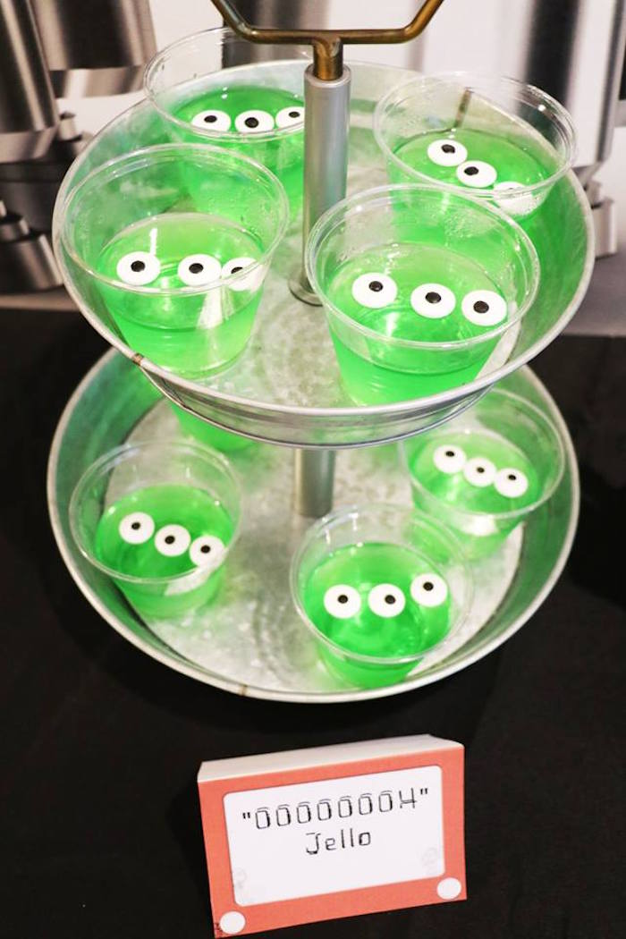 """Ooooooh"" Alien Jello from a Toy Story Birthday Party on Kara's Party Ideas 