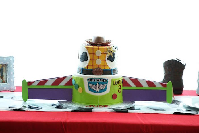 Toy Story Cake from a Toy Story Birthday Party on Kara's Party Ideas | KarasPartyIdeas.com (14)