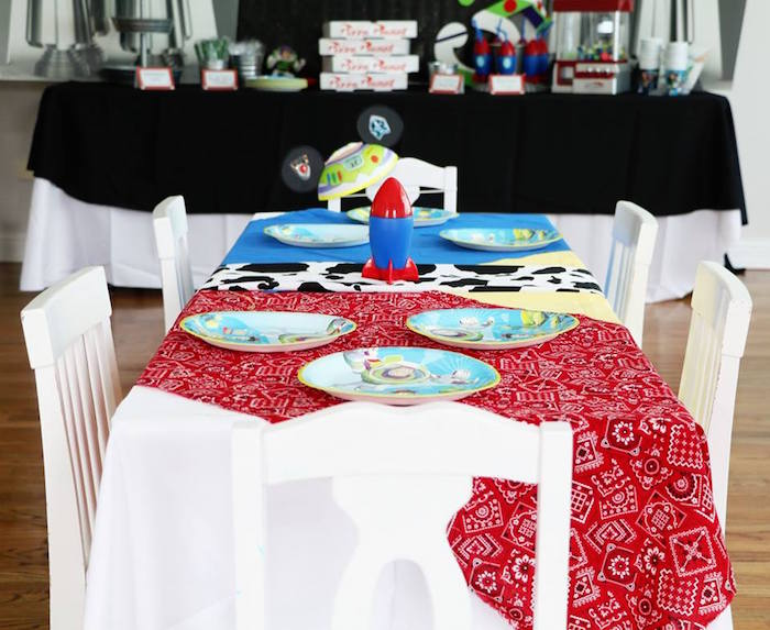 Toy Story Party Table from a Toy Story Birthday Party on Kara's Party Ideas | KarasPartyIdeas.com (6)