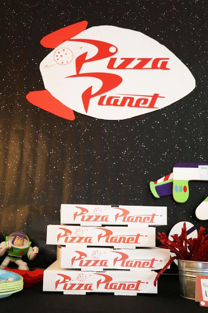 Pizza Planet Food Table from a Toy Story Birthday Party on Kara's Party Ideas | KarasPartyIdeas.com (31)