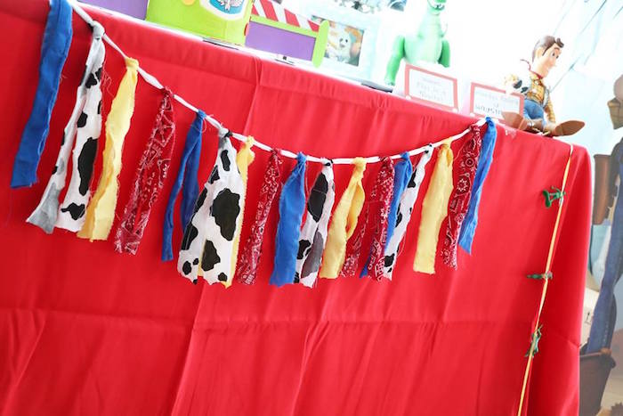 Toy Story-inspired Tassel Garland from a Toy Story Birthday Party on Kara's Party Ideas | KarasPartyIdeas.com (26)