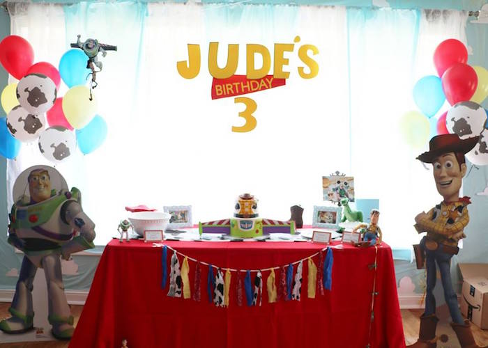 Toy Story Themed Party Table from a Toy Story Birthday Party on Kara's Party Ideas | KarasPartyIdeas.com (25)