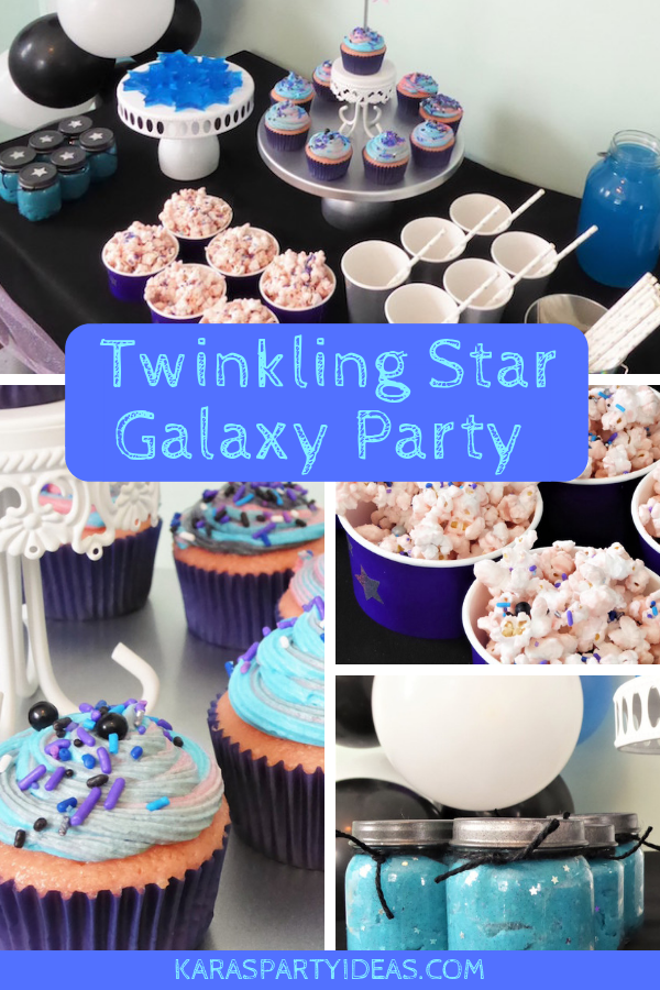 Twinkling Star Galaxy Party via Kara's Party Ideas - KarasPartyIdeas.com