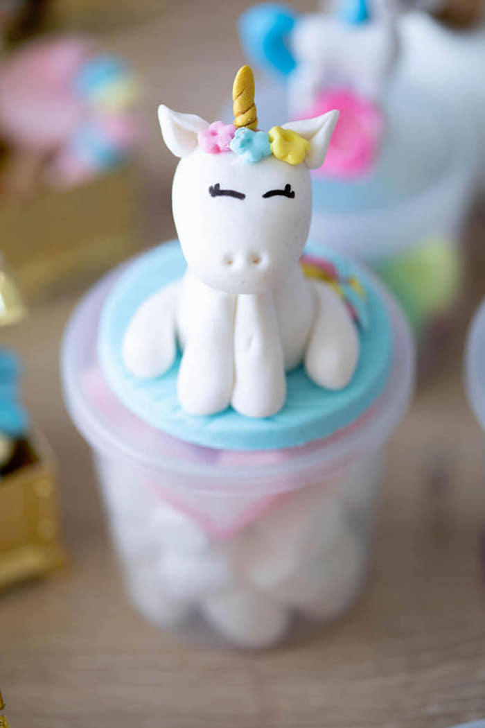 Unicorn Favor Jar + Topper from a Unicorns and Mermaids Birthday Party on Kara's Party Ideas | KarasPartyIdeas.com (15)