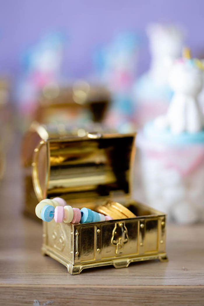 Treasure Chest from a Unicorns and Mermaids Birthday Party on Kara's Party Ideas | KarasPartyIdeas.com (26)