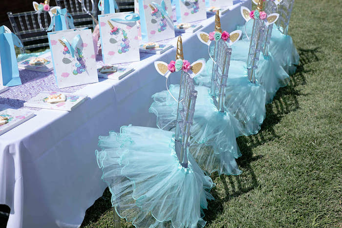 Unicorn Party Table from a Unicorns and Mermaids Birthday Party on Kara's Party Ideas | KarasPartyIdeas.com (23)
