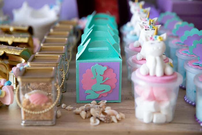 Mini Mermaid Gable Box from a Unicorns and Mermaids Birthday Party on Kara's Party Ideas | KarasPartyIdeas.com (22)