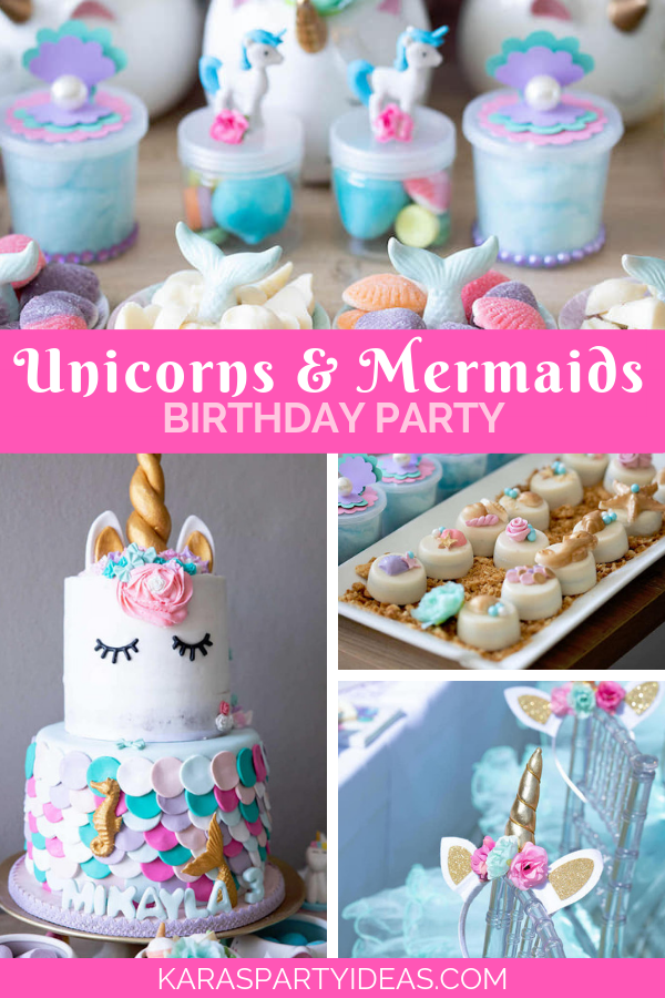 Unicorns And Mermaids Birthday Party Via Karas Ideas