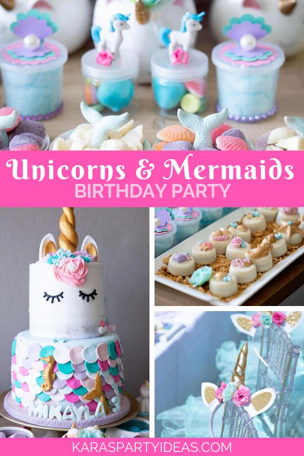 Unicorns and Mermaids Birthday Party via Kara's Party Ideas - KarasPartyIdeas.com