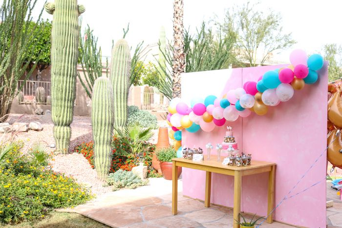 Girly Western Dessert Table from a Wild & Free Horse Themed Birthday Party on Kara's Party Ideas | KarasPartyIdeas.com (13)