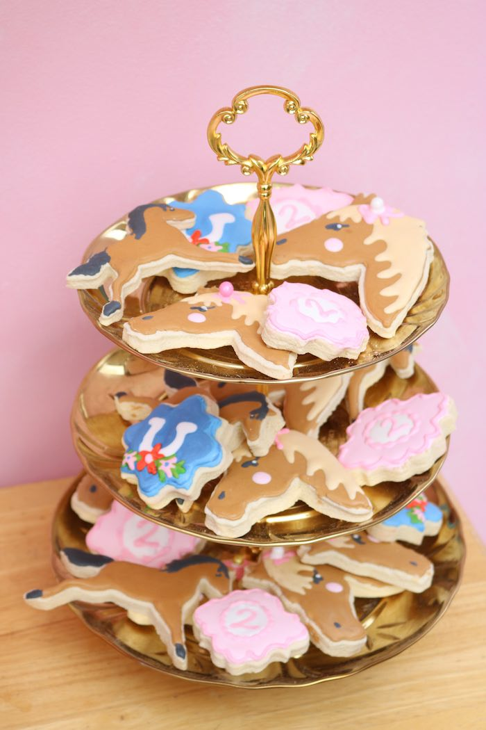 Horse Cookies from a Wild & Free Horse Themed Birthday Party on Kara's Party Ideas | KarasPartyIdeas.com (11)