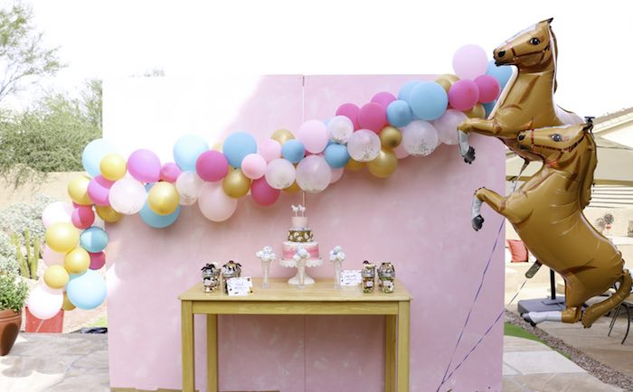 Girly Western Dessert Table from a Wild & Free Horse Themed Birthday Party on Kara's Party Ideas | KarasPartyIdeas.com (6)