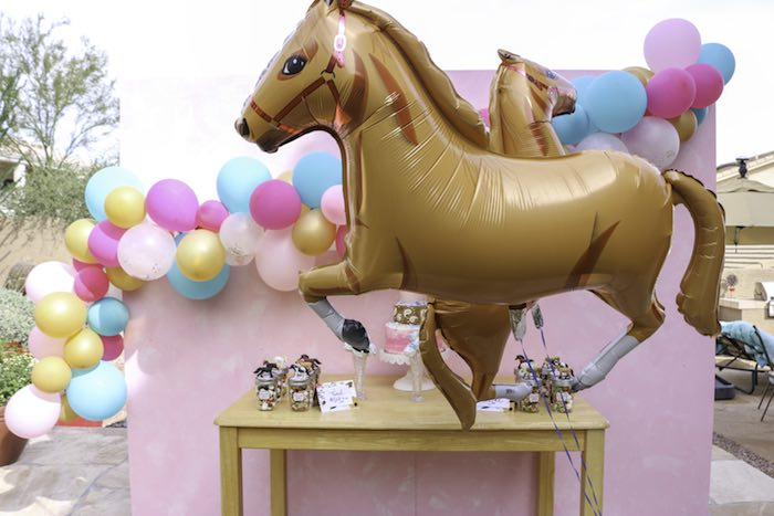 Floating Mylar Horse Balloon From A Wild Free Themed Birthday Party On Karas