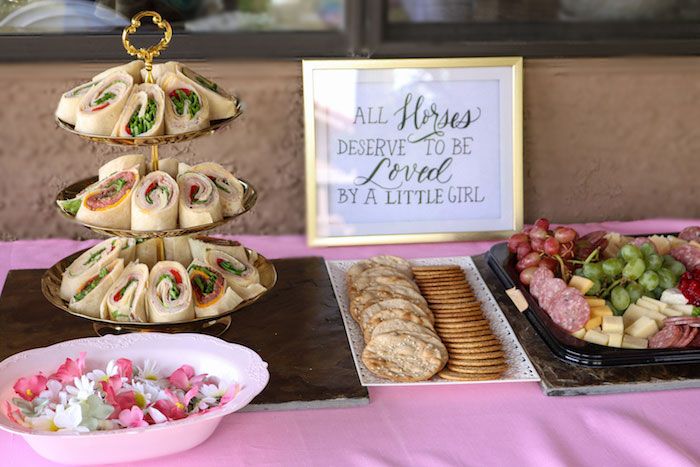 Food Table from a Wild & Free Horse Themed Birthday Party on Kara's Party Ideas | KarasPartyIdeas.com (23)
