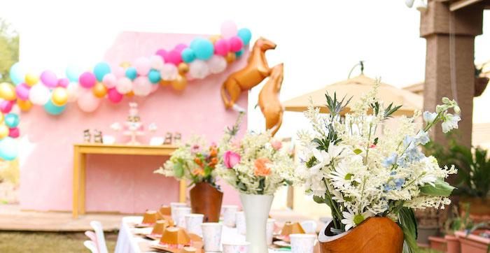 Wild & Free Horse Themed Birthday Party on Kara's Party Ideas | KarasPartyIdeas.com (1)