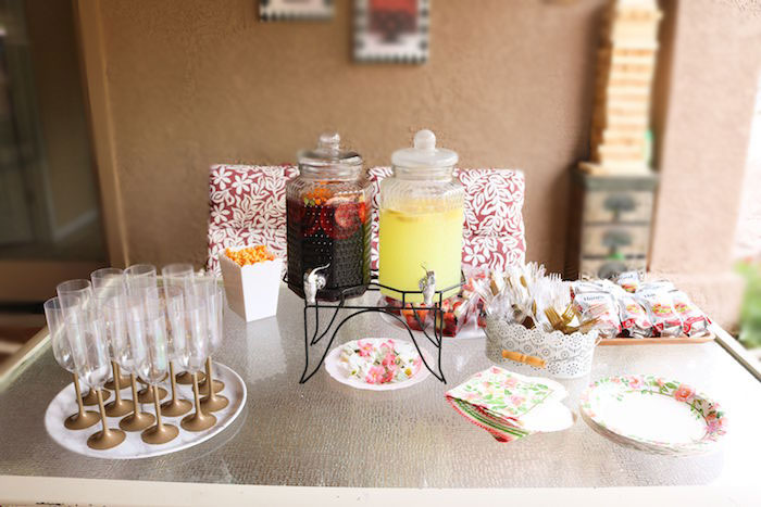 Western Themed Beverage Table from a Wild & Free Horse Themed Birthday Party on Kara's Party Ideas | KarasPartyIdeas.com (22)