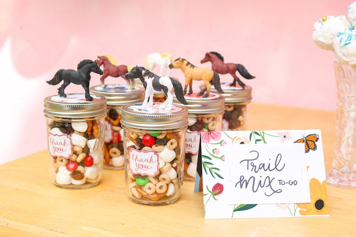 Horse-topped Trail Mix To-Go from a Wild & Free Horse Themed Birthday Party on Kara's Party Ideas | KarasPartyIdeas.com (15)