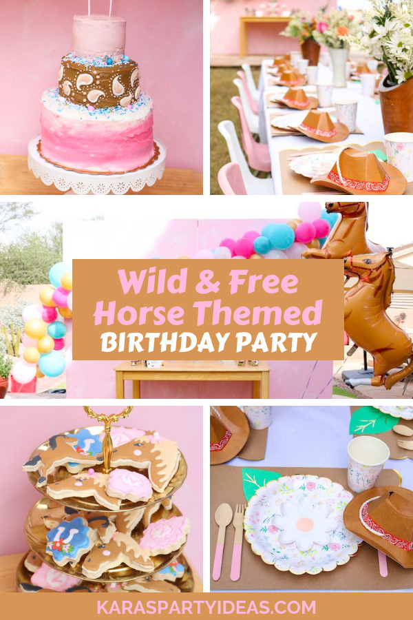 Awesome Karas Party Ideas Wild Free Horse Themed Birthday Party Funny Birthday Cards Online Alyptdamsfinfo