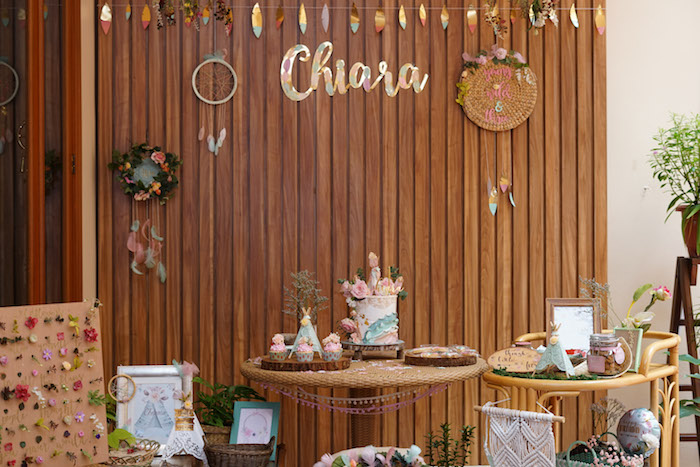 Boho Themed Dessert Table from a Young, Wild and Three Birthday Party on Kara's Party Ideas | KarasPartyIdeas.com (17)