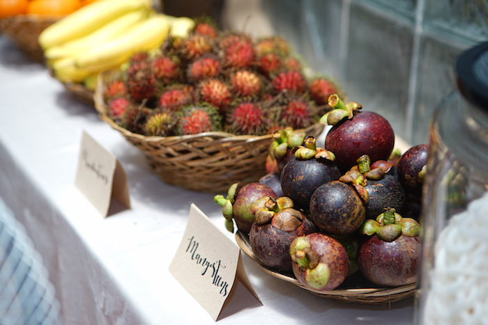 Exotic Fruit Table from a Young, Wild and Three Birthday Party on Kara's Party Ideas | KarasPartyIdeas.com (19)