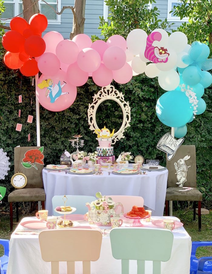 Alice in Wonderland Birthday Tea Party on Kara's Party Ideas | KarasPartyIdeas.com