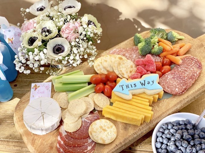 Alice in Wonderland Cheese Board from an Alice in Wonderland Birthday Tea Party on Kara's Party Ideas | KarasPartyIdeas.com