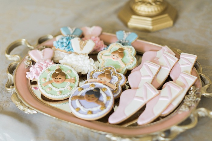 Ballerina Themed Sugar Cookies from a Ballerina Ball Birthday Party on Kara's Party Ideas | KarasPartyIdeas.com (20)