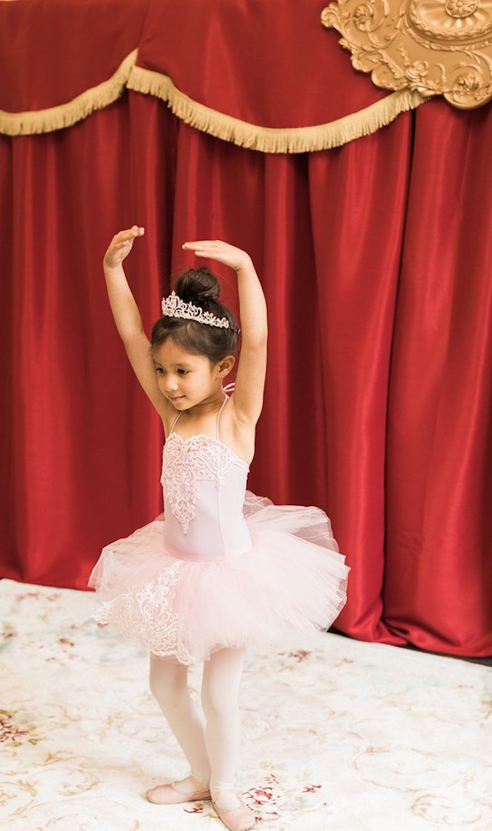 Little Ballerina from a Ballerina Ball Birthday Party on Kara's Party Ideas | KarasPartyIdeas.com (32)