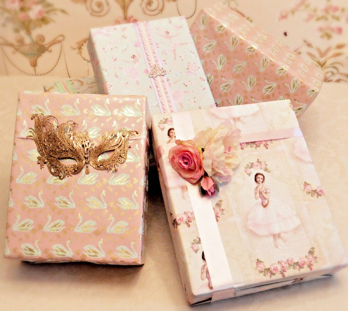 Wrapped Ballet-inspired Gifts from a Ballerina Ball Birthday Party on Kara's Party Ideas | KarasPartyIdeas.com (10)