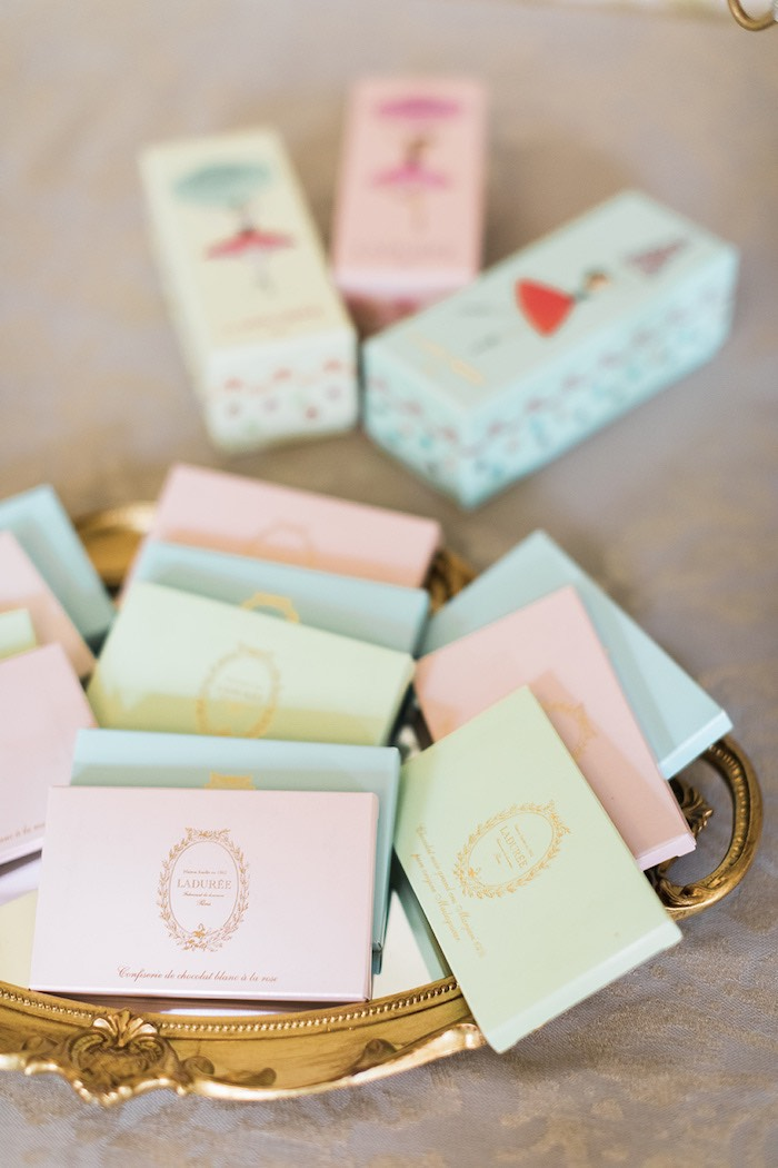 Laduree Chocolate Bars from a Ballerina Ball Birthday Party on Kara's Party Ideas | KarasPartyIdeas.com (9)