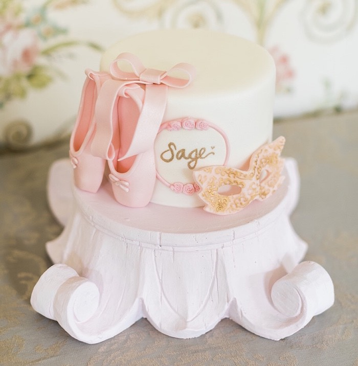 Ballet Cake from a Ballerina Ball Birthday Party on Kara's Party Ideas | KarasPartyIdeas.com (8)