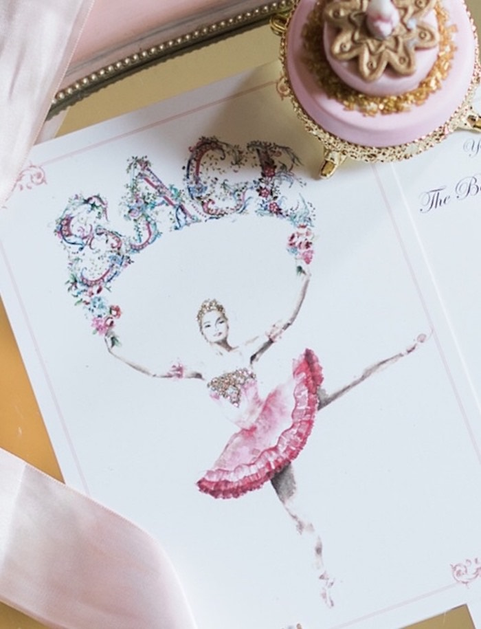 Ballerina Party Invitation from a Ballerina Ball Birthday Party on Kara's Party Ideas | KarasPartyIdeas.com (7)